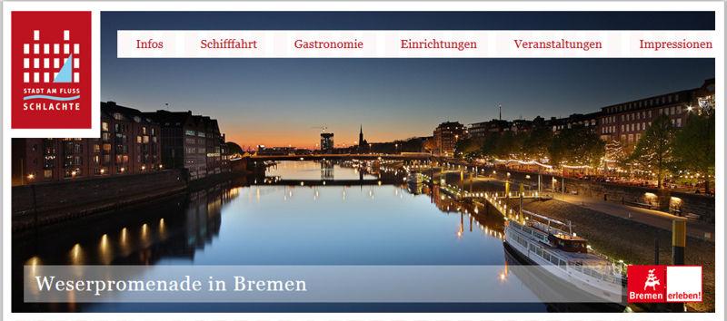 Die Schlachte. Magischer Anziehungspunkt für Bremer und Touristen. Da lebt Bremen.